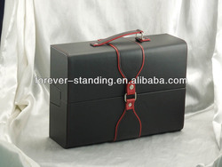 Trade Assurance luxury gift box packaging, leather package box