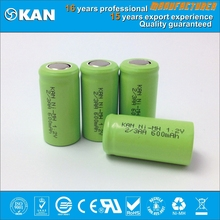 KAN 2/3 AA 600mAh rechargeable battery pack for rc car ,drone, mini scooter, baby toy, flush light and solar power system