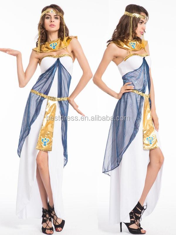 Cleopatra diosa romana egipcio para mujer de halloween vestido de lujo del traje adulto - Dressing liefde ...