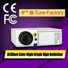 2015 Newest HD 3D LED Projector 1280*768 Contrast 2500:1 VGA HDMI VIDEO USB AUDIO Output Manufacturer