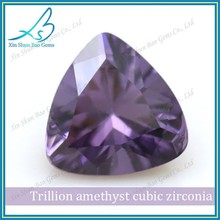 Wholesale amethyst synthetic trillion cut loose diamonds