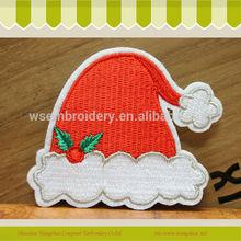 2014 caliente venta de navidad sombrero bordado el logotipo de hombreras pin-el