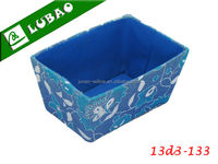 Wholesale eco-friendly blue mini lined handicraft fabric storage box
