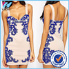 Yihao Fashion Lady Party Mini Evening Bodycon Floral Short Cocktail Dress New Disign
