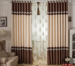 luxury lined curtains with multi-color