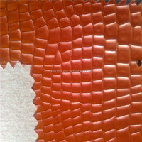 hard crocodile skin pattern pvc leather
