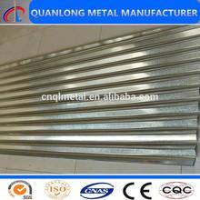 Recubierto de zinc para techos hojas/zinc chapa ondulada