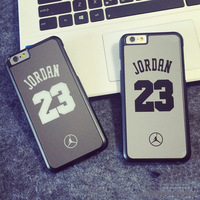 cool sport style Jordan PC phone case with back mirror