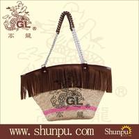 Wholesale fashion straw beach bag