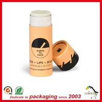 Push Up cardboard lip balm tube With Wax paper lining Greaseproof