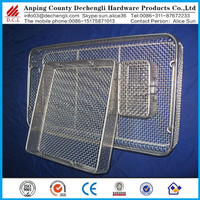 304 stainless steel wire mesh medical sterilization basket/fine mesh medical storage basket sale