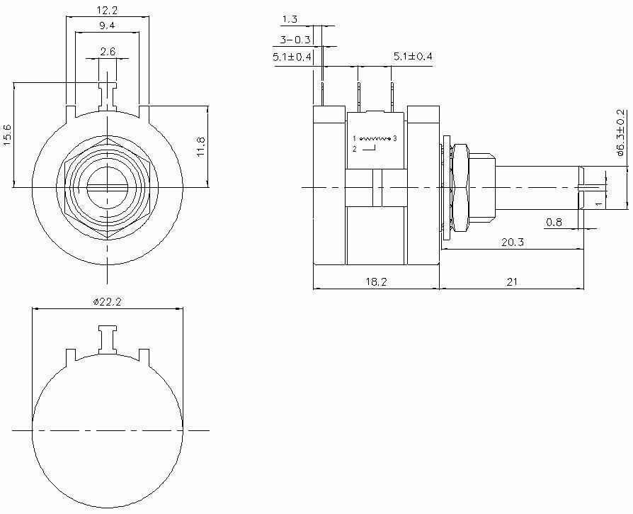 chine fabricant 10 k ohm wireround potentiom u00e8tre 3590s