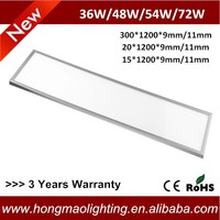 Dimmable 72W 300x1200 Ceiling LED Light Panel IP54 Epistar Panel LED Office Lighting
