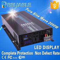CE EMC approved 36v to 110v 2kw off grid pure sine wave solar panel power inverter
