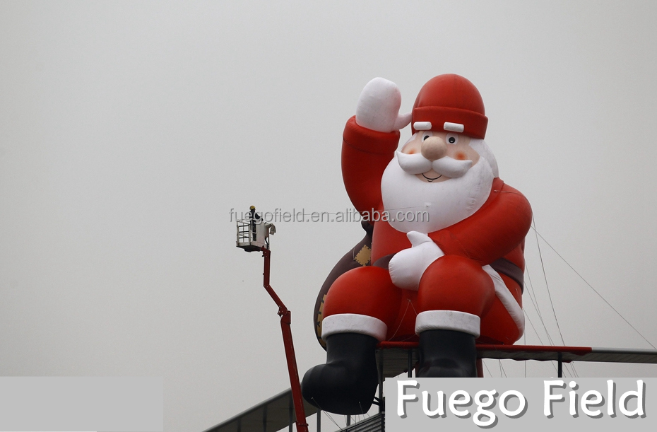 Giant inflatable santa claus christmas outdoor decorations