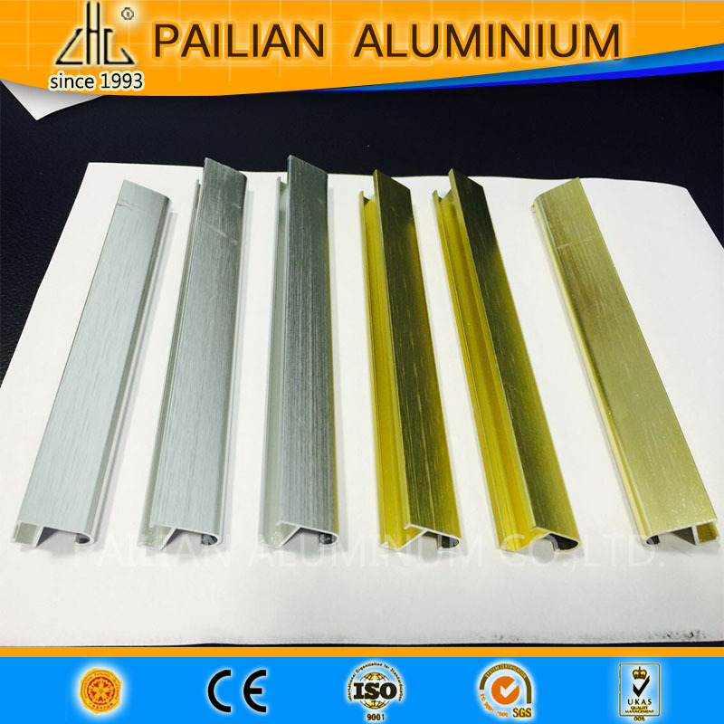 Gold/silver Brushed Aluminum Extrusion Profiles/oem Cutomized ...
