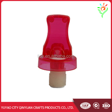 Hot sale personalized plastic lighted wine bottle stoppers