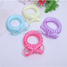 Yiwu new product traceless hair tie/elastic phone cord hair band/telephone wire hair scrunchies hair accessories headwear