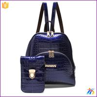 2016 Wholesale fashion custom women high school leather bag backpack
