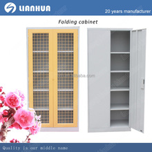 Lianhua High quality Cheap folding bedroom cloth storage/two door metal wardrobe cabinet for sale