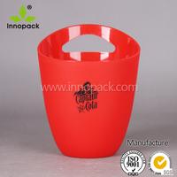 PS printed plastic ice bucket wine cooler