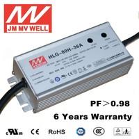 80W 36V waterproof transformer with 6 years warranty CE UL TUV EMC