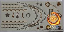 choker tattoo face jewel sticker metallic flash tattoo
