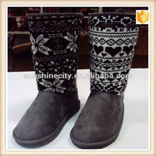 Chirstmas knitting wool snow boots shoes