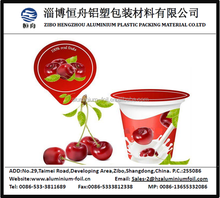 lebensmittelqualität Joghurt aluminium folie deckel zur abdichtung joghurtbecher