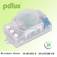 Remote Control 360 Degree HF System Transparent Microwave Sensor Switch Remote Control Motion Sensor Switch