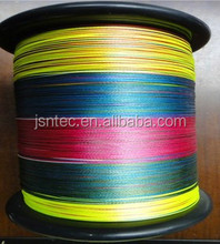PE briaded fishing line 4/6/8 weaves mixed color