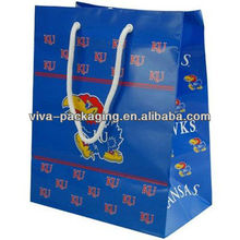 Kansas Jayhawks Royal Blue gift paper bag wholesale