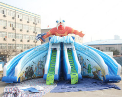 monster giant inflatable water slide for sale