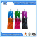 Plegable de plástico botella de agua destilada/caliente plegable único reutilizables deporte botella de agua y agua embotellada