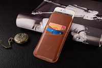 Brown Pu leather, Pouch phone cover, pouch case for iphone