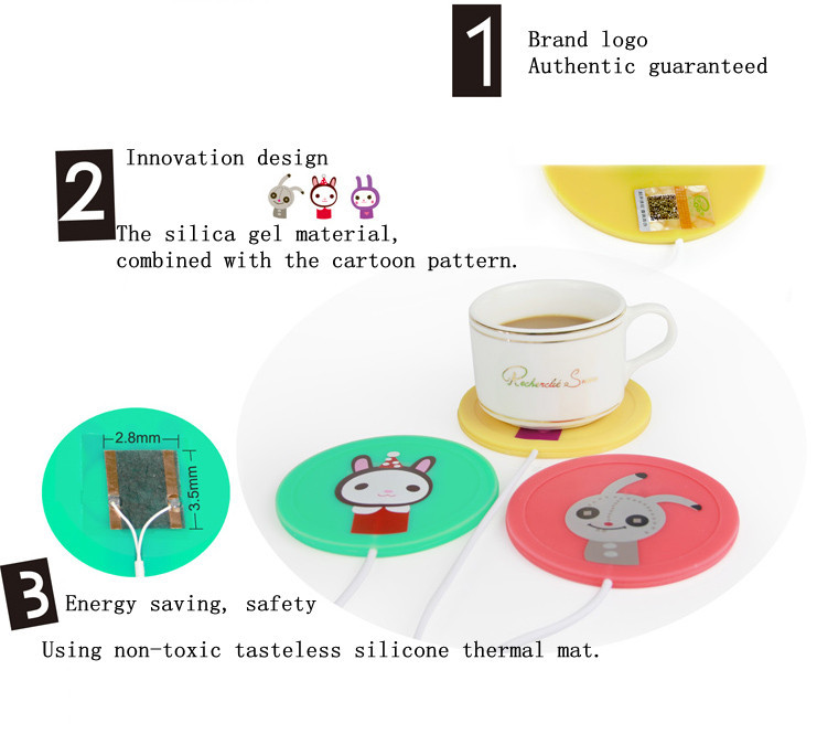 New product usb silicone cup warmer pad