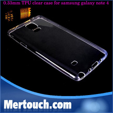 for samsung galaxy Note 4 0.33mm transpatent TPU cover case purle color perfect fit phone back cover case for samsung note 4