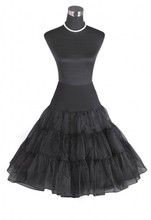 "26 ""Black Retro jupon / 50 swing vintage Petticoat Fantaisie net Jupe"