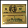 Golden flower craft gold plated gift banknote business gift