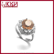 fashion jewelry man made diamond rings rose gold with low price