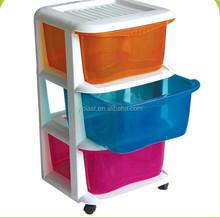 3 tier removable plastic storage drawer, plastic storage cabinet