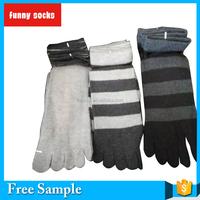 New fashion design mens open toe ankle sport socks Knitted Comfort Cotton stripe Five Toe Yoga Socks