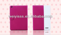 New Rose And White Leather Case For Apple iPad Mini High Quality with stand