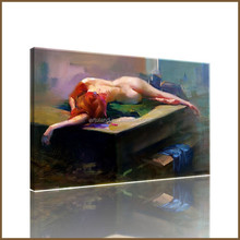 Popular realistic painting nude/abstract nude body canvas painting for home decoration