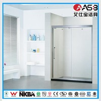 hot sale complete set 8mm Frosted Glass walk in bathroom with shower