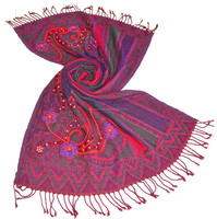 Beaded Embroidery Wool Shawls