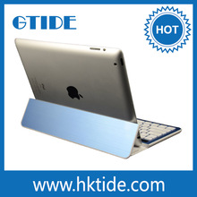 Premium Gift Bluetooth Aluminium Stand Case ABS Keyboard For Ipad