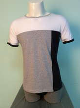 men's summer series short sleeve crew neck many contrast colors cotton tee