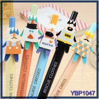 cartoon character plastic ballpoint pen wholesale all kinds of stationery product