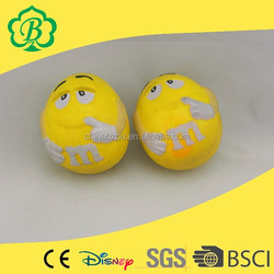 MM's different size custom anti pu stress toy, toy ball